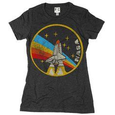 Women's NASA Rainbow T-Shirt | Cool Space Tees | Vintage Space TShirts | PalmerCash