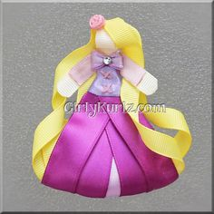 Rapunzel Ribbon Sculpture Hair Clip Tangled Hair por GirlyKurlz