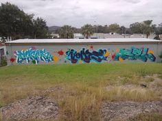 Legal graffiti wall NSW Australia.  Brilliant idea.