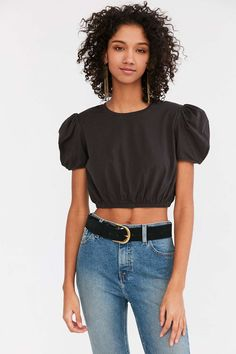 BDG Taurus Rising Padded Shoulder Top - Urban Outfitters