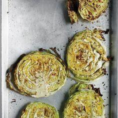Roasted Cabbage Wedges Recipe on Martha Stewart .. 400 deg for 40-45 min