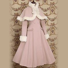 Long Sleeve Pink Velvet Princess Lolita Coat – USD $ 99.99