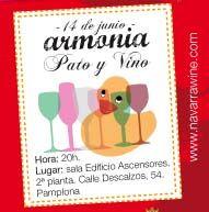 Armonía de productos del pato de Martiko y vinos Navarra. 14 de junio. Pamplona.