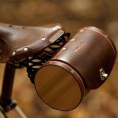 Sweet leather saddle bag for a retro bike  $126