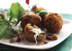 Crispy Eggplant Fritters with Smoked Mozzarella act as the perfect vegetarian appetizer or party snack.