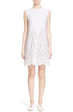 Stella McCartney 'Aline' Broderie Anglaise Cotton Shift Dress available at #Nordstrom
