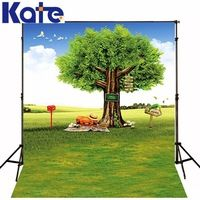 300Cm*200Cm(About 10Ft*6.5Ft) Mini Baby Child Photographytree Grass Sky -Mail Background One Hundred Days Baby Photos 1378 Lk