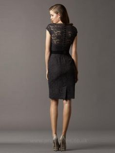 Scoop Short Knee-length Evening Dresses ED0280