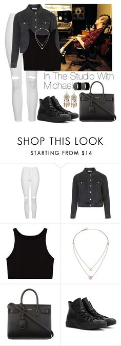 """""""In the studio with Michael"""" by lovatic92 ❤ liked on Polyvore featuring Topshop, Michael Kors, Yves Saint Laurent, Converse, Boohoo and Chanel"""