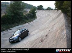 Club BMW de Catalunya rodando en el oval abandonado de Terramar (Sitges)