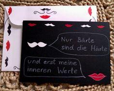 Moustache und Kussmund ergänzen sich ideal :-)