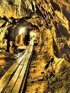 Inside abandoned mine