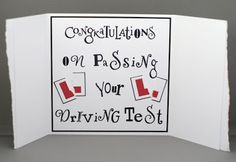 Lynne's Crafty Little Blog: Congratulations On Passing Your Driving Test Card