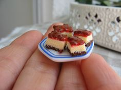 Mini Cherry Cheesecakes Topped With Jelly