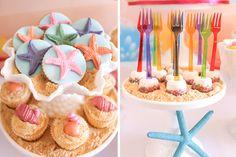 Festa pequena sereia, little mermaid party, ariel party, girls party, festa meninas, candy color, fundo do mar