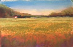 Cranberry Bog  pastel on uart 5x7  by  Sandi Graham using Terry Ludwigs and Mt. Visions