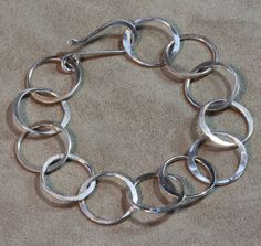 Sterling Silver Large Circle Chain Bracelet - I like!