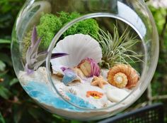 Miniature Mermaid Gardens Are the Coolest Take on Fairy Gardens via Brit + Co