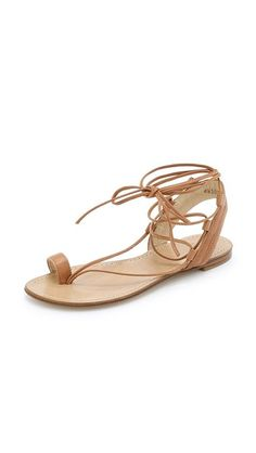 Designer Clothes, Shoes & Bags for Women Dressy Flat Sandals, Camel Sandals, Toe Loop Sandals, Leather Sandals Flat, Shoes Sandals, Flat Shoes, Stuart Weitzman Sandals, Toe Rings, Me Too Shoes