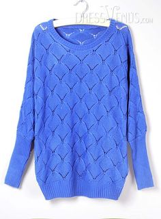 US$20.99 Delicate Candy Color Round Neckline Knit Sweater. #Knitwear #Delicate #Sweater #Neckline