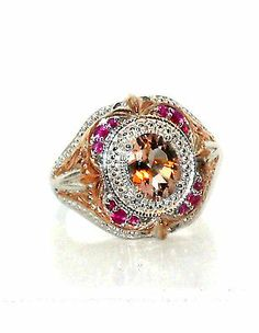 MORGANITE AND PINK SAPPHIRE RING 2.00ctw size 8 http://stores.ebay.com/JEWELRY-AND-GIFTS-BY-ALICE-AND-ANN