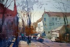 Watercolor Cityscapes by Eugen Chisnicean