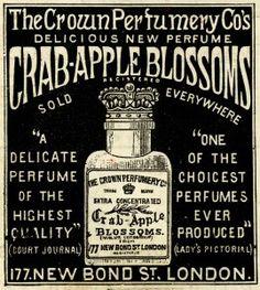 crown perfumery co, crab apple blossoms, junk journal printable, vintage perfume…