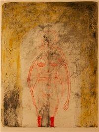 Femme en Rouge by Rufino Tamayo