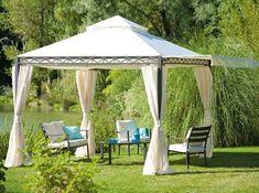 Sunshades add sun protection to backyard designs, making them wonderful summer retreats
