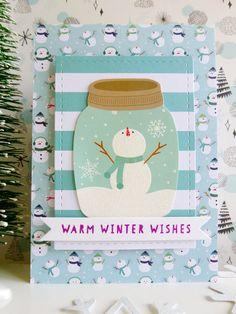 Pebbles - Winter Wonderland - Warm Winter Wishes card