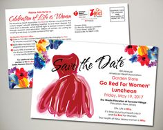 American Heart Association 2017 Garden State Go Red For Women Luncheon Save the Date design