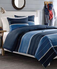 This Tuxedo Danbury Stripe Duvet & Sham Set by Nautica is perfect! #zulilyfinds