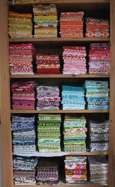 Would love to have a fabric stash like this one day!