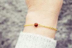 Gold Chain Bracelet | Sardonyx Gemstone Bracelet | Single Bead Bracelet | Healing Crystal Bracelet Gemstone Bracelets, Handmade Bracelets, Gold Chains, Healing, Gemstones, Gift Ideas, Jewellery, Etsy, Women