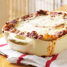 When we say easy lasagna, we mean easy lasagna. You don't even have to cook the noodles for this speedy yet impressive pasta dinner. | MyRecipes