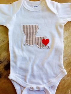 Fleurty Girl - Everything New Orleans - Louisiana Love Baby Onesie - Kids & Baby Clothes - Shirts
