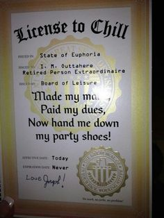 """Fun idea for a military retirement. I would change """"Made my money"""" to """"Did my duty"""" : ) retirement card"""