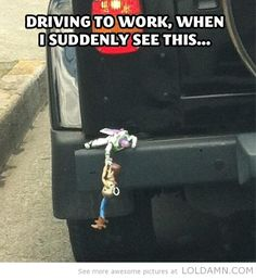 Woody, hang on… Best thing I've ever seen.