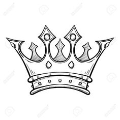 Stock Vector – Stock Vector – – Graffiti World King Crown Tattoo, Crown Tattoo Design, King Tattoos, Tattoo Design Drawings, Cool Art Drawings, Pencil Art Drawings, Tattoo Outline Drawing, Crown Hand Tattoo, Tattoo Designs