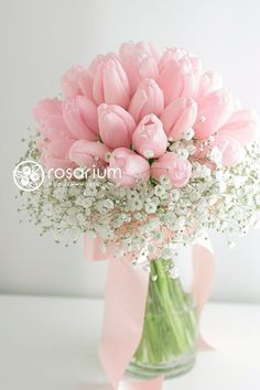 Pink Tulips, Tulips Flowers, Pastel Flowers, Flowers Nature, Bridal Flowers, Flower Bouquet Wedding, Bridal Bouquets, Simple Flowers, Pretty Flowers