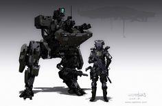 Walker & Trooper, CAPTOON (Lee InSu) on ArtStation at https://www.artstation.com/artwork/walker-trooper