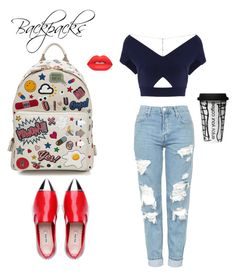"""Untitled #71"" by agnesenapoli on Polyvore featuring Anya Hindmarch, Topshop, Roland Mouret, Lime Crime, Dot & Bo, backpacks, contestentry and PVStyleInsiderContest"