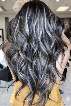 silver hair color ideas and tips for dyeing, maintaining your grey hair 5 ~ thereds. Haircuts For Long Hair, Long Hair Cuts, Cool Hairstyles, Hairstyles Haircuts, Long Layered Hair Wavy, Hairstyle Ideas, V Cut Hair, Women Haircuts Long, Hairstyles Pictures