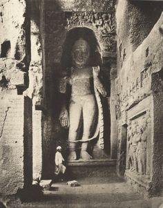 A Buddhist stupa in the Kanheri Caves of Mumbai