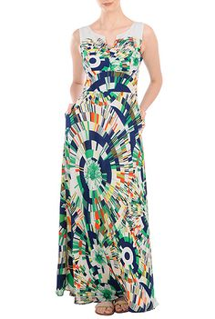 Plus Size Dress (available in sizes 0 - 36W) Plus Size Graphic Georgette Maxi Dress