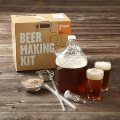 Beer making kit would make an awesome gift for a boyfriend! Fathers Day Gifts,