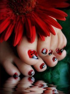Cute for little girls nails! wisjaime Cute for little girls nails! Cute for little girls nails! Do It Yourself Nails, How To Do Nails, Cute Nail Art Designs, Toe Nail Designs, Pretty Designs, Toe Nail Art, Toe Nails, Red Toenails, Nail Nail