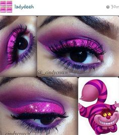 Cheshire Cat inspired eye make up instagram ladydeeh