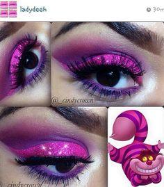 Cheshire Cat inspired eye make up instagram ladydeeh