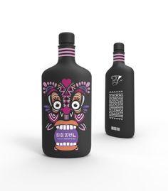 DEZUL - series of flavored margarita mixers from Spain Packaging World, Beverage Packaging, Bottle Packaging, Brand Packaging, Packaging Design, Branding Design, Margarita Mix, Wale, Liquor Bottles